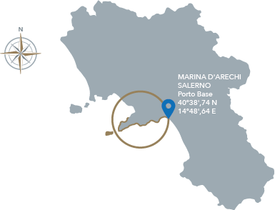 Cartina Costiera Amalfitana E Capri.Costiera Amalfitana